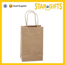 China Supplier Top Selling Recycled Cheap Brown Kraft Paper Eco Friendly Shopping Bag