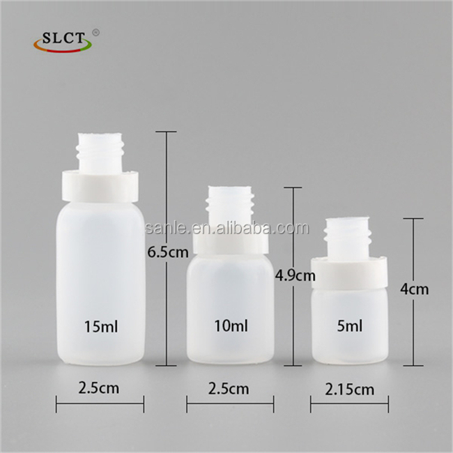 5ml 10ml 15ml pe transparent plastic squeeze eye dropper bottle