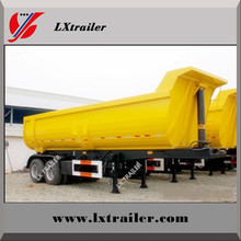 Tipper semi trailer, small dump trailer with hydraulic pump for transportation