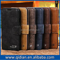 Retro leather note 4 case genius leather flip case for Samsung Galaxy Note 4 New arrival Note 4 case