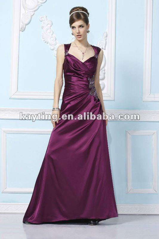 2012 popular evening gown dress beaded evening dress celebrity evening dresses maroon evening dress EchoLin 5106