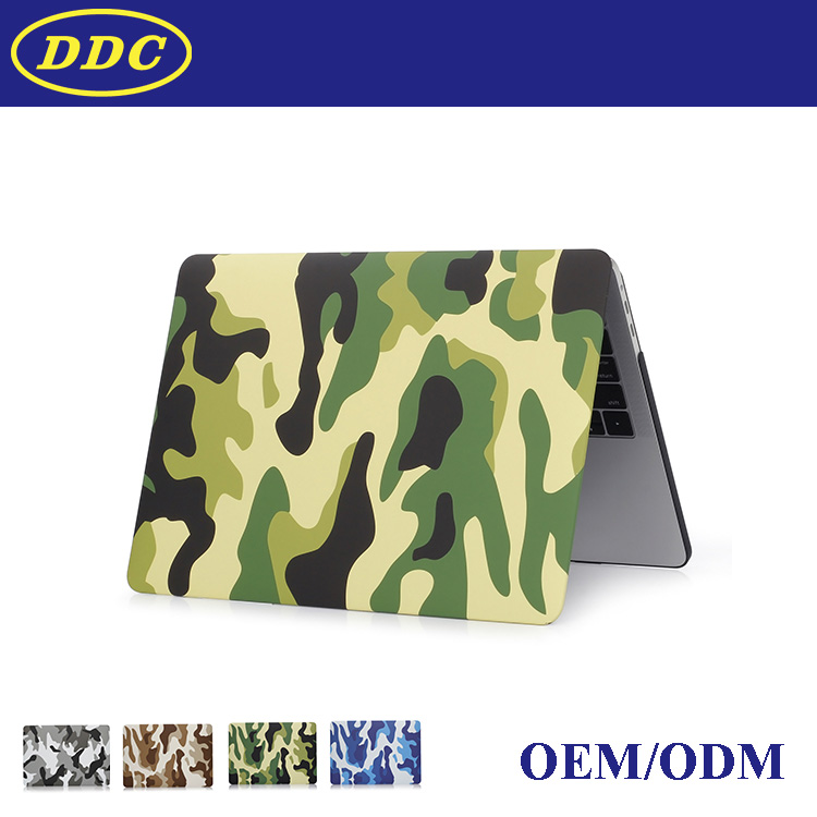 New products camo image pattern water paste hard shell case for macbook air, pro ,retina ,rubber surface touch sense