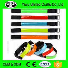 5x LED Flashing Safety Reflective Belt Strap Snap Wrap Arm Band Running Cycling