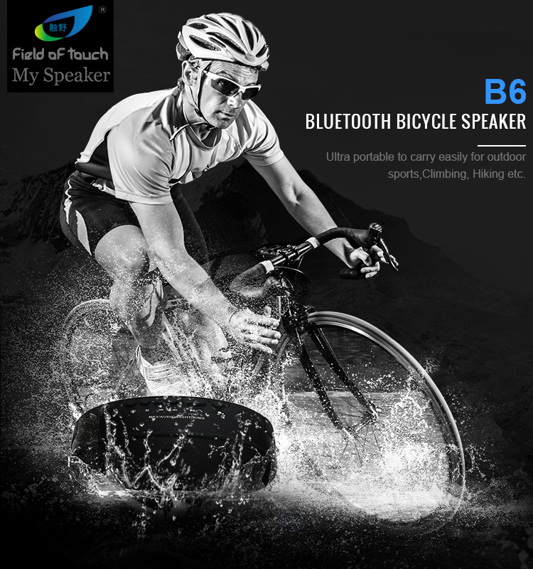 B6 New products waterproof IPX4 LED bluetooth bicycle speaker
