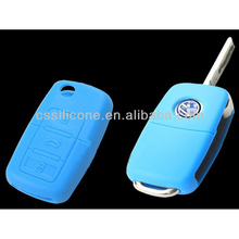 Perfect suitable silicone car key holder,Assorted Colour silicone rubber Key case for vw