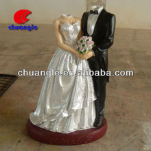 Abstract Resin Couple Figurine,Polyresin Statue for Wedding Gift