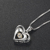 Woman Jewelry Simple Design Chain Sterling Silver Heart Necklace