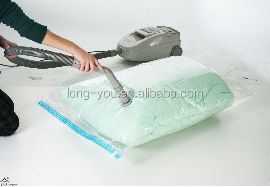 Plastic household storage protection bags vacuum storage bag