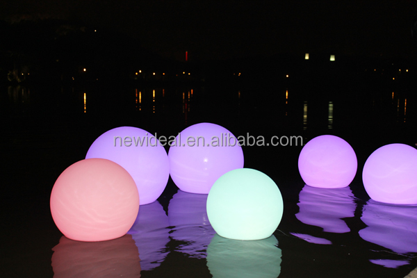 Waterproof IP68 swimming pool floating led ball light outdoor (NJ1539)