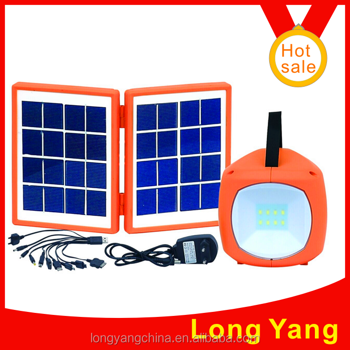 Mini solar light/solar lighting system with AC charger and mobile phone charger use for indoor lighting and mobile charging