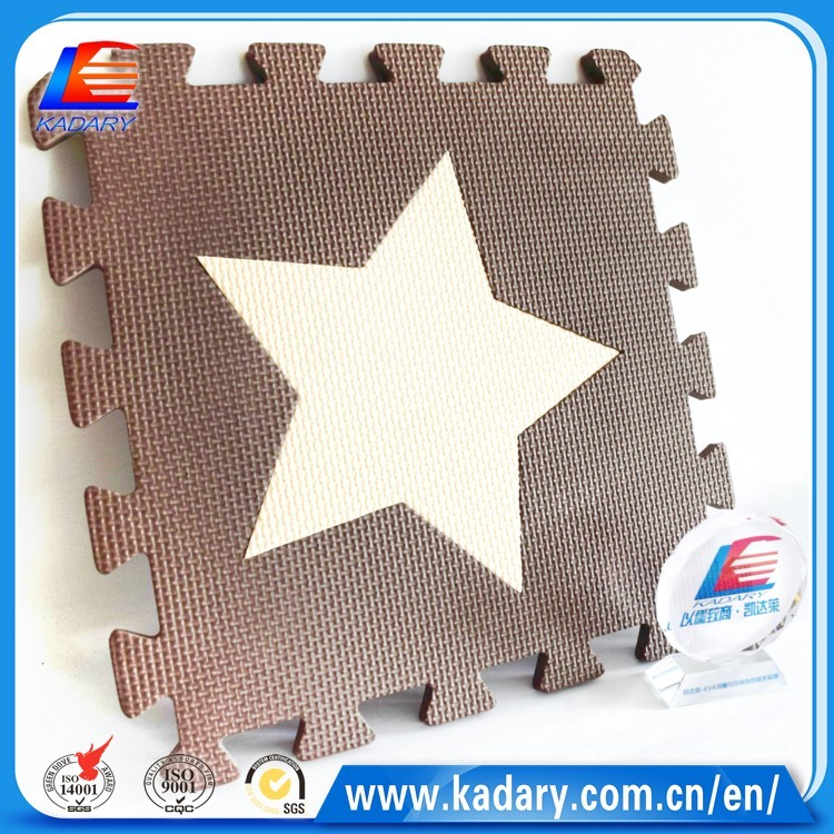 Star Puzzle eva mat for kids having fun