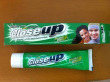 Close up Tooth paste