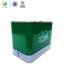 5L square tin oil can motor oil can with screw top and metal handle rectangular tin can