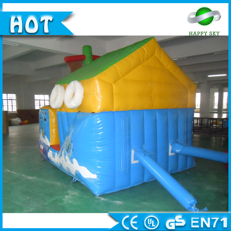 Inflatable ship boat bouncers for kids, inflatable jumpo ship castle, kids warship bounce house for sale