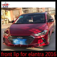 Front chin lip for Hyundai Elantra 2016 three section in one pc style C bumper for car