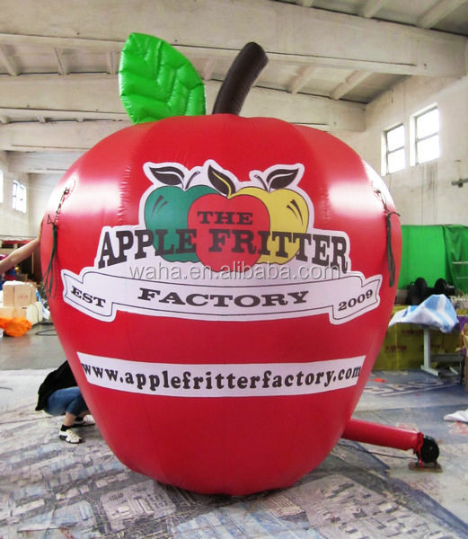 New design waha customized red giant inflatable apple