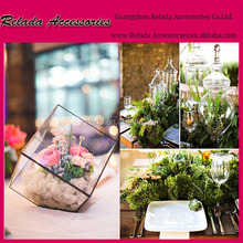 wedding centerpieces 3 mm Transparent Glass Cube Box Glass Plant Modern Planter Stained Geometric Glass Terrarium