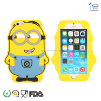 OEM silicone cell phone case for despicable me minions the little yellow creatures