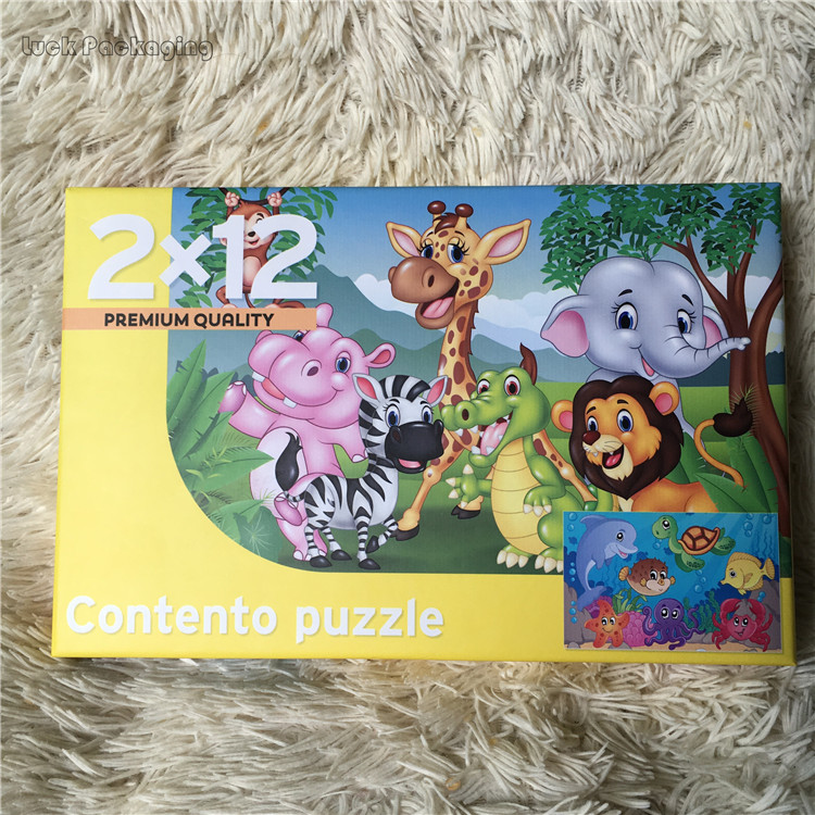100 Piece Custom Printing Cardboard Jigsaw Puzzles with Paper Packaging Box for Kids