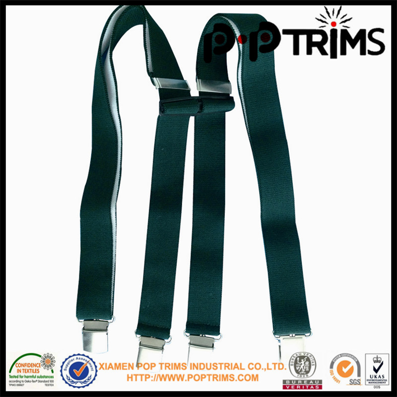 high quality elastic solid colour suspenders