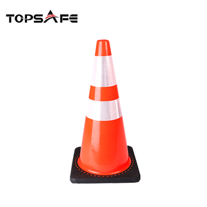 Factory cheap price heavy load capacity 28 Inch plastic cone flexible pvc traffic cone road safety traffic cones