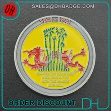 Amazing Red enamel Chinese Dragon coin for celebration