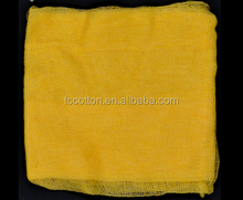 OEM white / yellow car wipes tack cloth for car cleaning