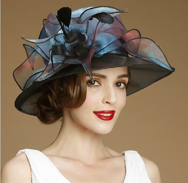 2014 Custom ladies elegant Sinamay Church Hat For Women