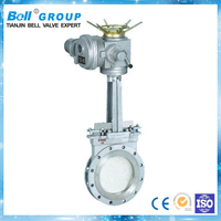 PN10 1 inch BZ973 Series electric knife gate valve picture for oil