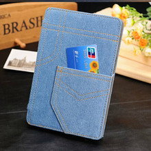 Modern jean Stylish flip leather smart case for ipad air 2