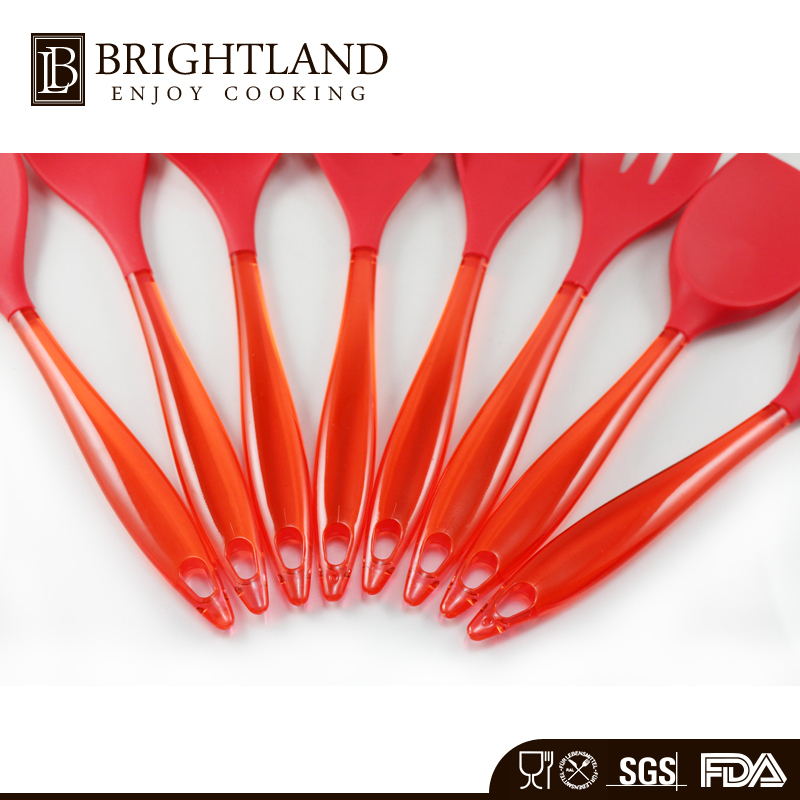 New Come Full Silicone Kitchen Utensils With Flat Solid Turner