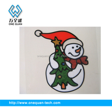 Christmas gift snowman jelly gel sticker window sticker glass sticker