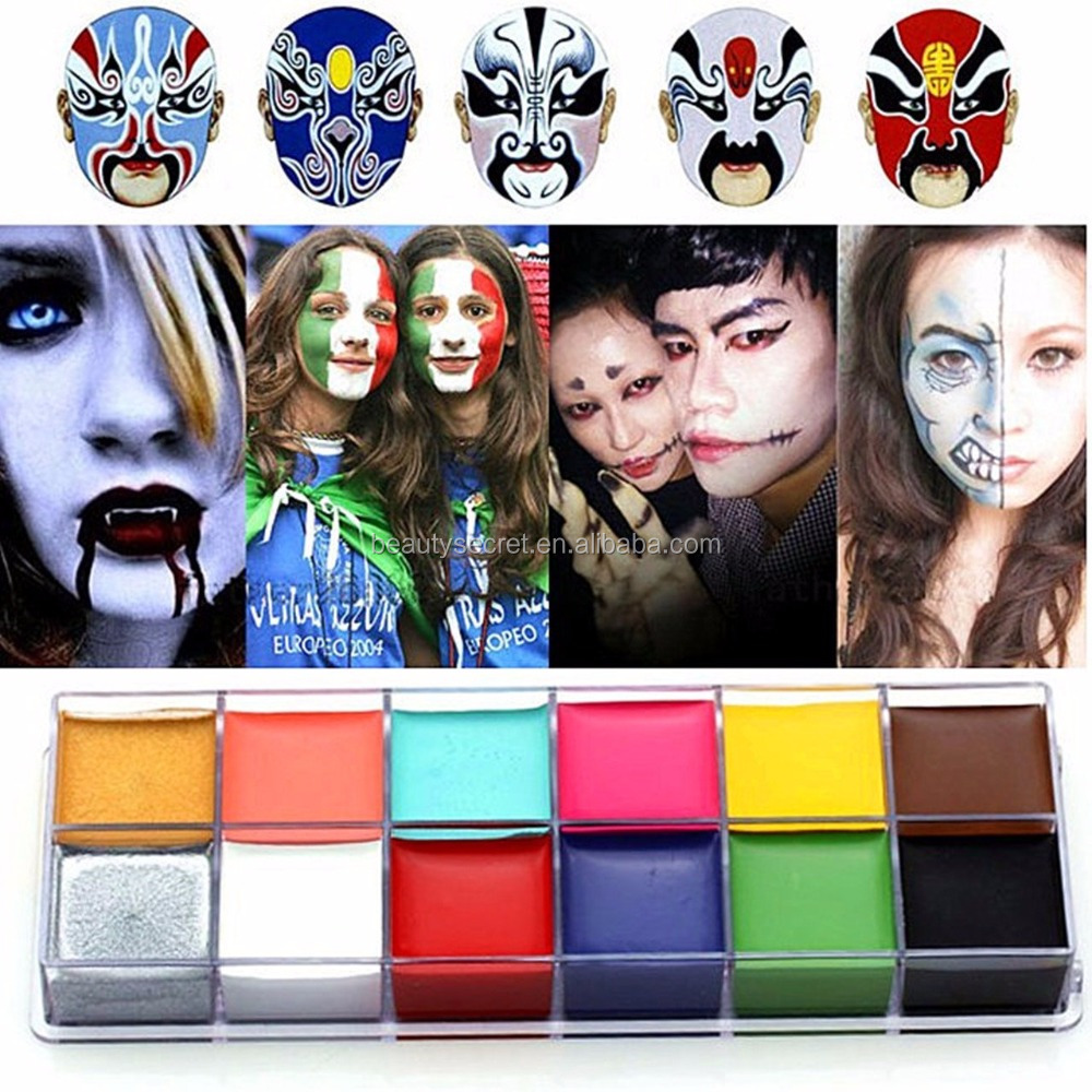 Show Box Party Use Washable nude body painting 12 color abstract nude female body art painting