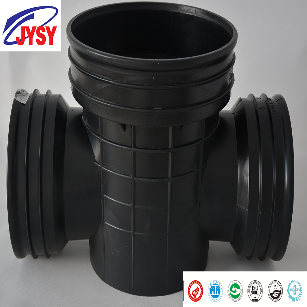 High Quality HDPE plastic inspection chamber for sewage drainage dn630 pe fittings