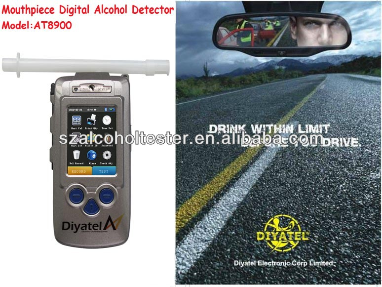 Hot Sale Alcohol Tester With Printer For Safely Guide Of Drivers At Factory Price AT8900
