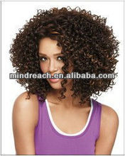 High quality short afro curl virgin Brazilian hair lace front wig ,accept escrow