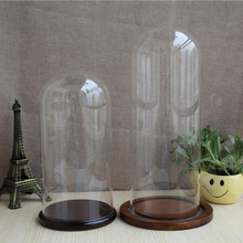 Hot sale decorative glass dome flower glass dome glass dome with pine base