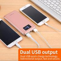 Popular style in world japan battery cells power bank 10000mah gift LCD display LED power bank