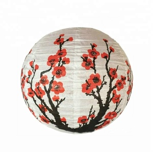 Wholesale Decorations Products Festival Hanging Custom Printed Japanese Tissue Paper Lanterns