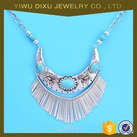 European Ethnic Nepali Antique Statement Necklace Exaggerate Pendant Necklaces Jewellery