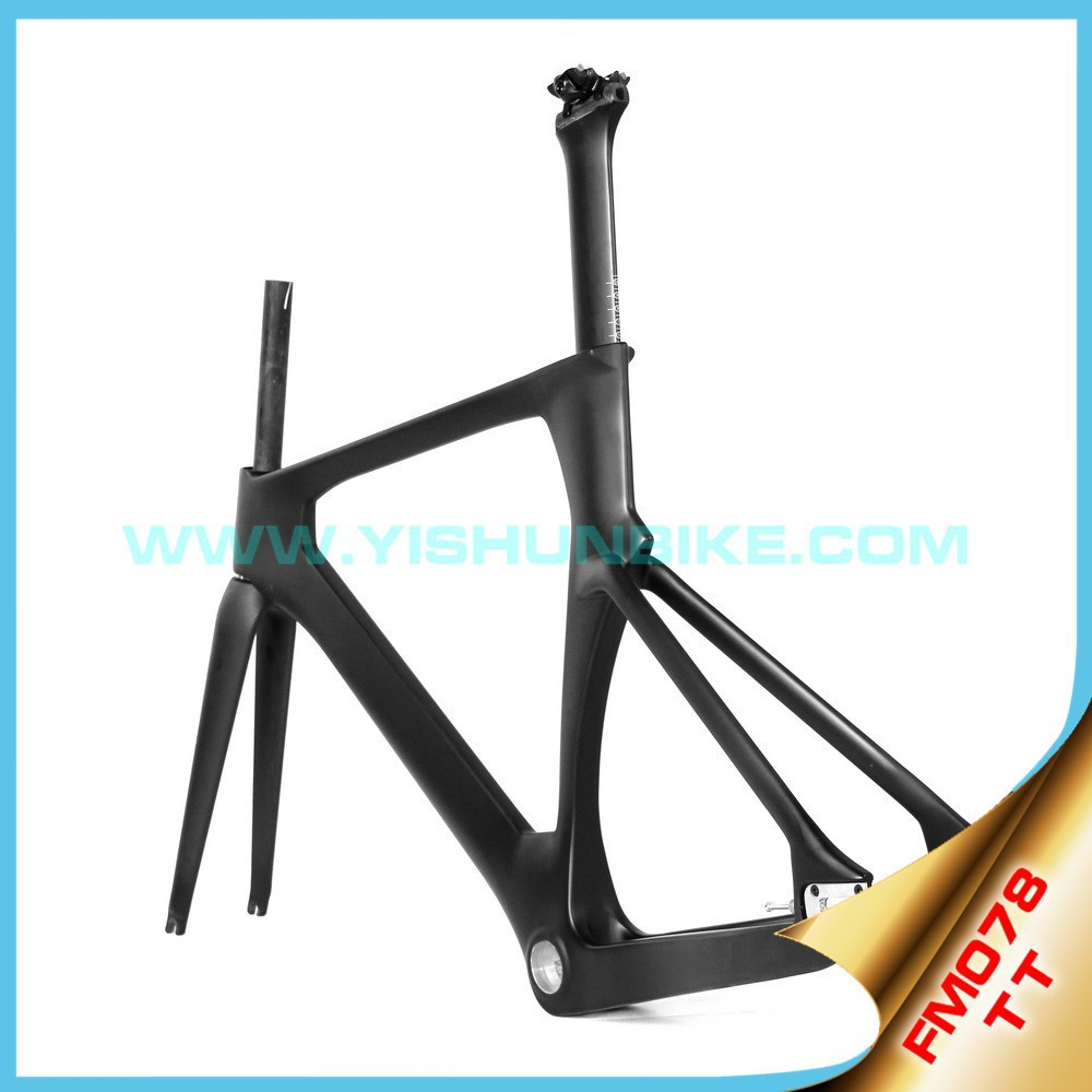 700C super light bicycle frame BSA/BB30 aero Time track UD/3k oem carbon road bike frames FM078
