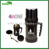 wide mouth double wall stainless steel coffee pot/SS teapot/travel mug