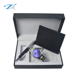 2018 Hot Sale Mens Watches Top Brand With Keychain And Black Pen For Promotion