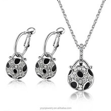 2014 arab wedding 925 sterling silver crystal jewelry set