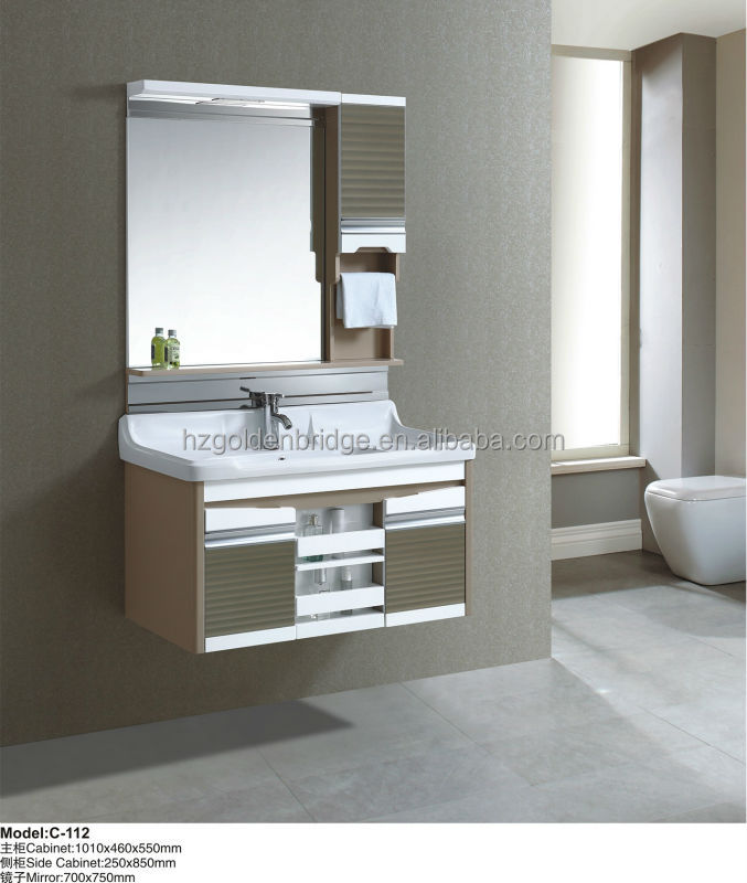 Hang/wall mounted PVC bathroom cabinet C-112