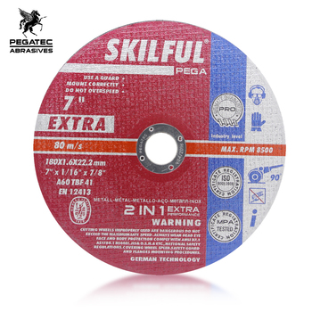 hot selling 7'' 180x1.6x22.2mm abrasive steel cut-off wheel