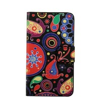colorful drawing pattern card slot tpu inside leather mobile cover for lg k10 case