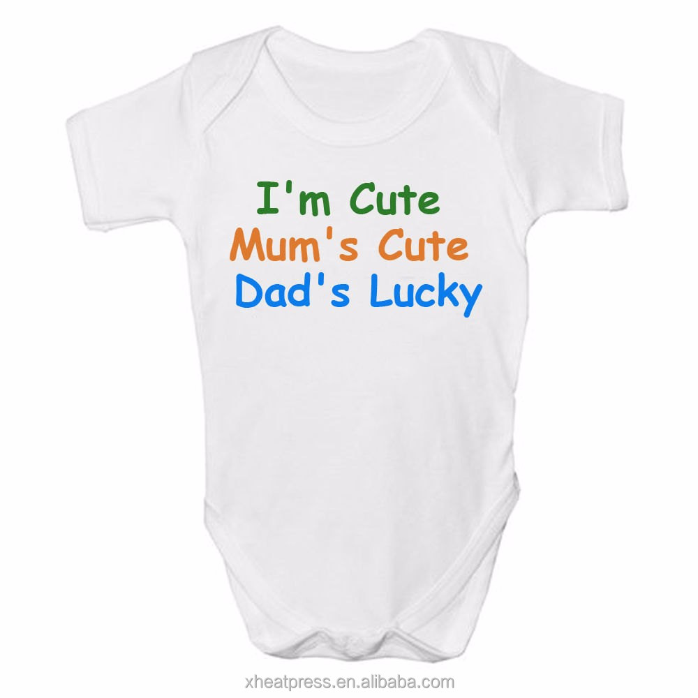 Lovely Heat Transfer Baby Short Sleeve Body Suit