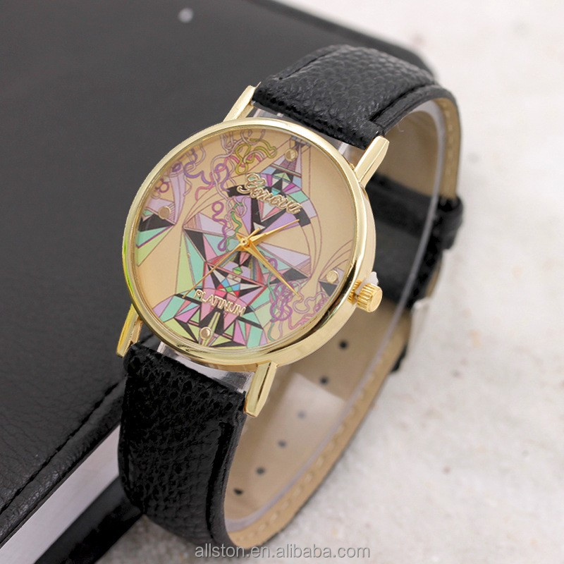 Christmas gifts ladies fashion Hello kitty diamond watch,leather watch,quartz watches for geneva diamond watch taobao