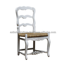 White Painted Cane Rushed Chair